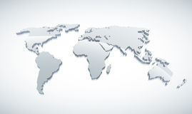 mapa del mundo 3d libre illustration