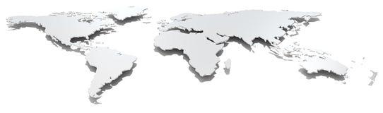 Mapa del mundo ancho de la imagen Imagen de archivo