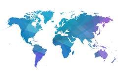 Mapa del mundo azulado ilustración del vector