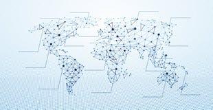 mapa del mundo bajo polivinílico stock de ilustración