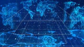 Mapa del mundo cóncavo de los medios de comunicación ilustración del vector