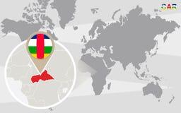 Mapa del mundo con el COCHE magnificado