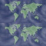 Mapa del mundo con el elemento del diseño de la rejilla Imágenes de archivo libres de regalías