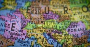 Mapa del mundo con el país de Italia almacen de video