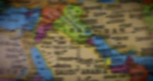 Mapa del mundo con el mapa del país de la Arabia Saudita almacen de video