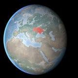 Mapa del mundo, Crimea y Ucrania, mundo ilustración del vector