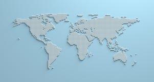 Mapa del mundo 3d Imágenes de archivo libres de regalías