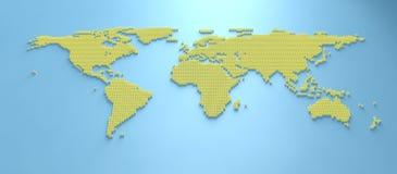 Mapa del mundo 3d Imagen de archivo