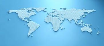 Mapa del mundo 3d Fotos de archivo