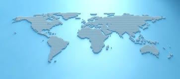 Mapa del mundo 3d Imagen de archivo libre de regalías