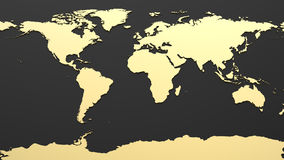 Mapa del mundo de alta tecnología Fotos de archivo libres de regalías