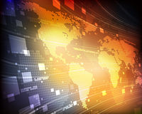 Mapa del mundo de Digitaces Imagen de archivo