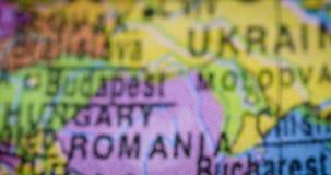 Mapa del mundo de la región del mapa del país de Bulgaria almacen de video