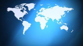 Mapa del mundo de los continentes y fondo abstracto libre illustration