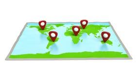 Mapa del mundo del ejemplo Imagen de archivo libre de regalías