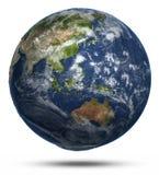 Mapa del mundo del este Foto de archivo libre de regalías