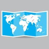 Mapa del mundo del vector Imagen de archivo