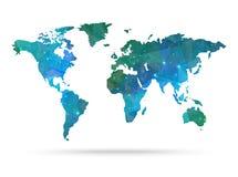 Mapa del mundo del vector del diamante de la chispa Imagen de archivo libre de regalías