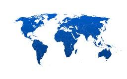 Mapa del mundo detallado con los condados y las fronteras Cada país Fotos de archivo