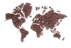 Mapa del mundo hecho de suelo o de grava Foto de archivo libre de regalías