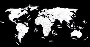 Mapa del mundo logístico Imagen de archivo libre de regalías