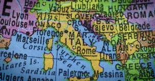 Mapa del mundo del país de Italia metrajes