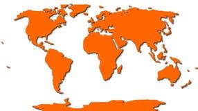 Mapa del mundo a pulso Imagenes de archivo