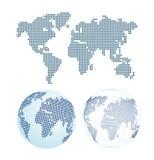 Mapa del mundo punteado Fotos de archivo