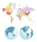 Mapa del mundo punteado Imagenes de archivo