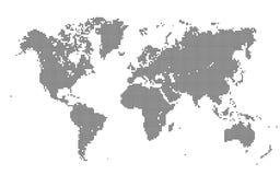 Mapa del mundo punteado en el fondo blanco libre illustration