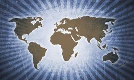 Mapa del mundo retro Imágenes de archivo libres de regalías