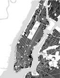 Mapa del New York City, NY, los E.E.U.U. Foto de archivo libre de regalías