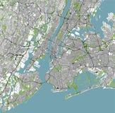 Mapa del New York City, NY, los E.E.U.U. stock de ilustración