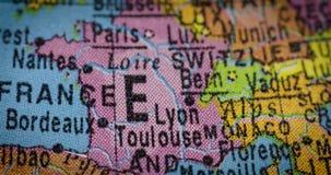 Mapa del país de Francia en el globo metrajes