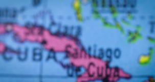 Mapa del país de Jamaica en el globo almacen de video