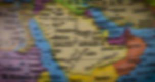 Mapa del país de la Arabia Saudita en el globo almacen de video