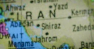 Mapa del país de United Arab Emirates en el globo almacen de metraje de vídeo