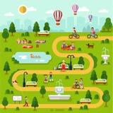 Mapa del parque Imagen de archivo libre de regalías