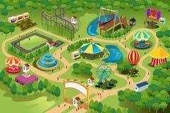Mapa del parque de atracciones Fotografía de archivo