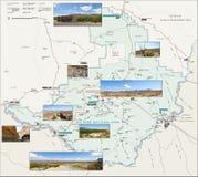 Mapa del parque nacional de la curva grande Foto de archivo libre de regalías