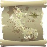 Mapa del pirata Imagen de archivo