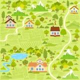 Mapa del pueblo Fotografía de archivo
