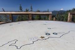 Mapa del puesto de observación de Iron Mountain Imagenes de archivo