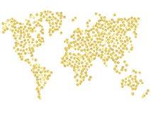 Mapa del punto del oro Imágenes de archivo libres de regalías