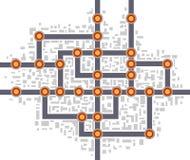 Mapa del subterráneo libre illustration