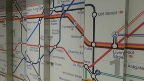 Mapa del subterráneo de Londres Fotos de archivo