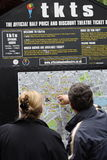 Mapa del teatro de Londres Fotos de archivo