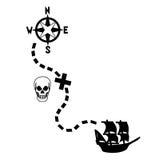 Mapa del tesoro de los piratas Imagenes de archivo
