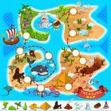 Mapa del tesoro del pirata Imagen de archivo libre de regalías