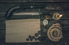 Mapa del tesoro del pirata imagen de archivo